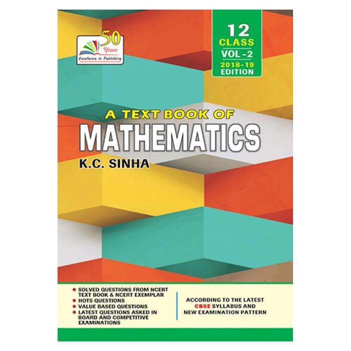 a text book of mathematics class xii volume 2 cbse 5